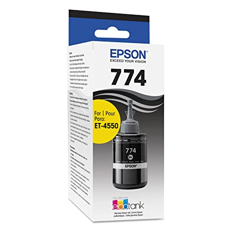 Epson T774120 EcoTank Pigment Black Ink Bottle Ink Cartridges at amazon
