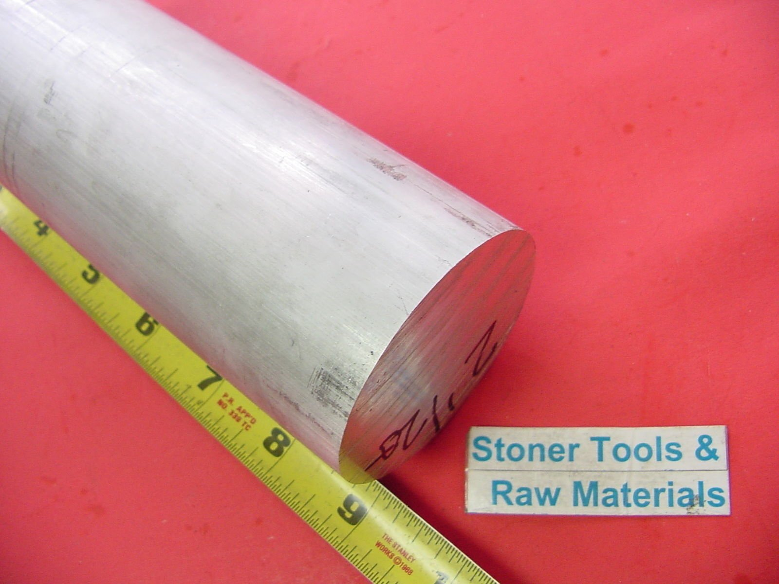 2-1/2'' ALUMINUM 6061 ROUND ROD 9'' long +.07''/-0 Solid T6511 Lathe Bar Stock 2.5'' by Stoner Metals