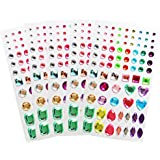 Self-adhesive Rhinestone Sticker, Color Scissor Bling Colorful Crystal Stickers For Craft Jewels Gem, 5 Sheets