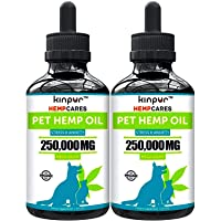 Kinpur (2 PACK | 500,000MG) Hemp Oil for Dogs & Cats - Anxiety Relief for Dogs &...