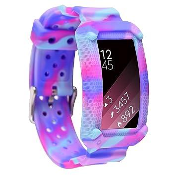 Greatfine Samsung Gear Fit2 Correa, muñequera Deportiva Watch Band de Reloj Pulsera de Reemplazo Correa para Samsung Gear Fit 2 SM-R360 Smart Watch ...