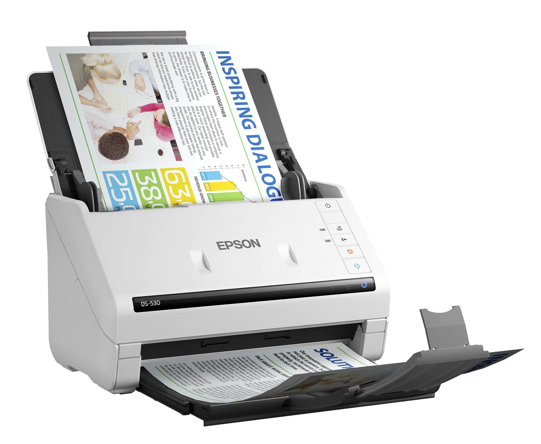 Epson DS-530 Document Scanner: 35ppm, TWAIN & ISIS Drivers, 3-Year Warranty with Next Business Day Replacement by Epson