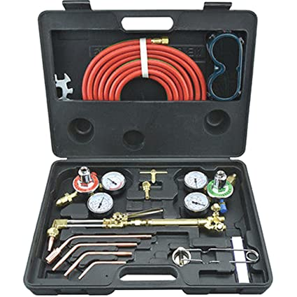 Antorcha de Gas Soldadura y corte acetileno oxígeno portátil Kit soldador conjunto regulador