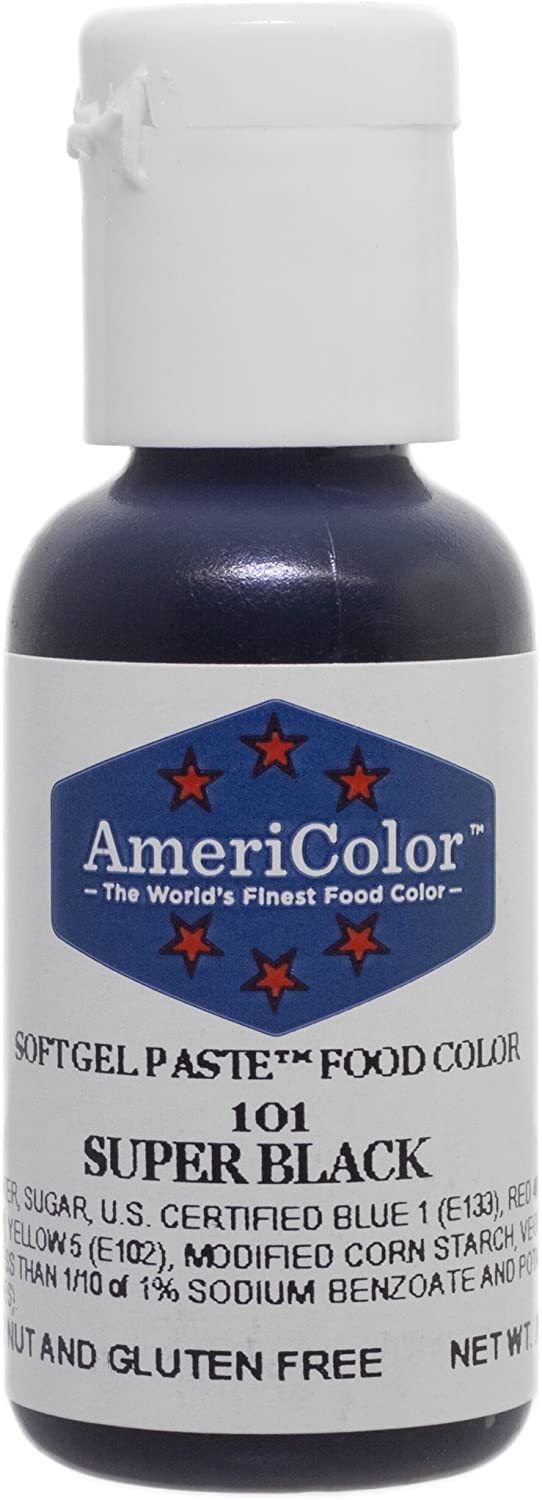 Americolor Gel Paste Food Color, Super Black-0.75 OZ