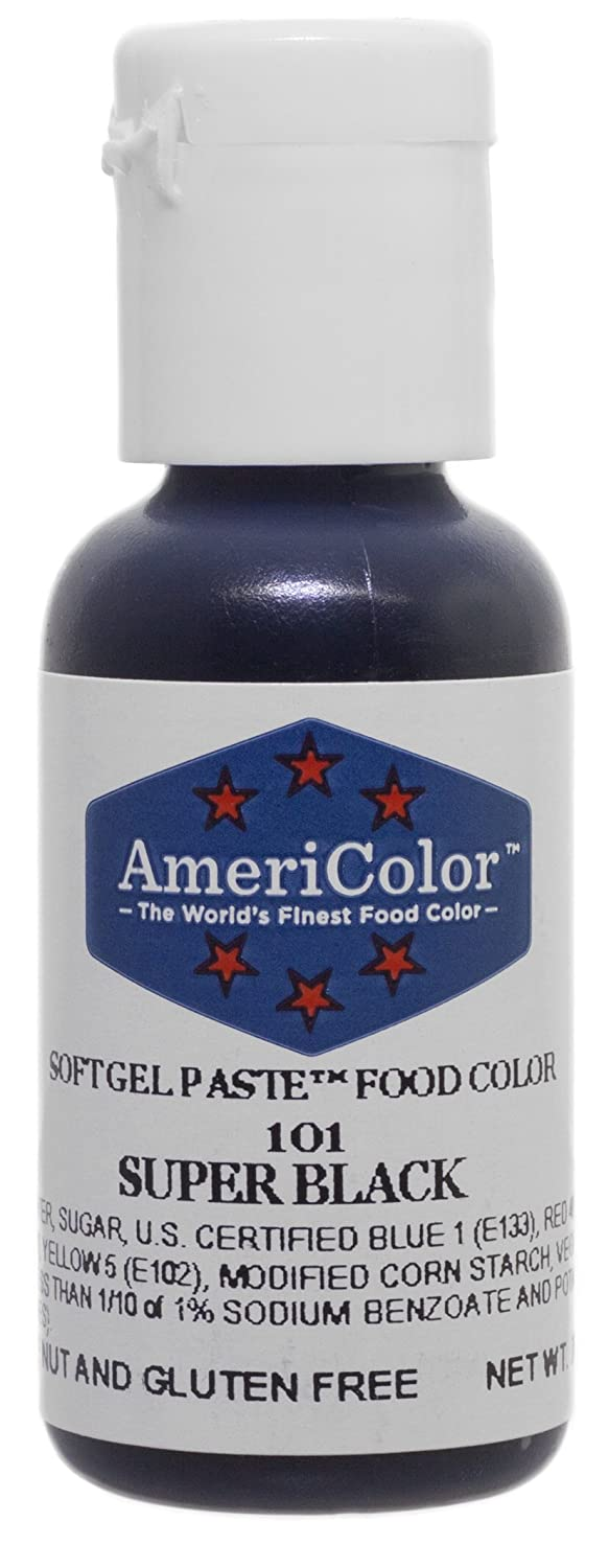 Amazon.com: Americolor Gel Paste Food Color, Super Black-0.75 OZ ...