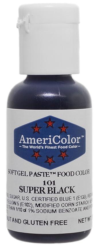Amazon.com: AmeriColor Food Coloring, Super Black Soft Gel Paste.75 ...
