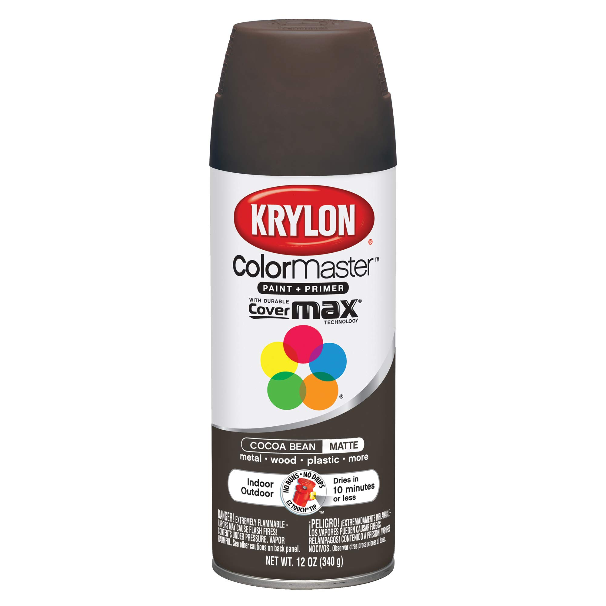Krylon K05359102 ColorMaster Primer Aerosol Paints Cocoa Bean