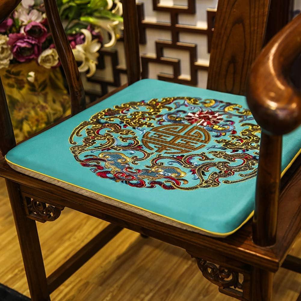 JRG Mahogany Chinese Classical Chair Pads, Furniture Protector Cover Taishi Chair Seat Cushion Non-Slip Home Cozy Chair Cushion-b 50x50x3cm