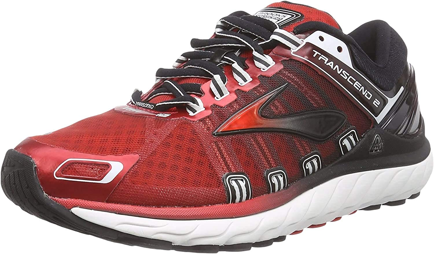 BrooksTranscend 2 - Zapatillas de Running Hombre, High Risk Red/Black/White, 40: Amazon.es: Zapatos y complementos