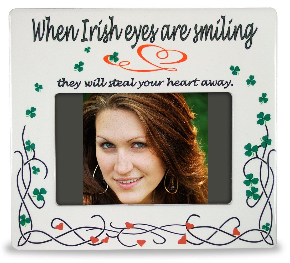 Irish Photo Frame Celtic Picture Frame - When Irish Eyes are Smiling - Ceramic - 8\