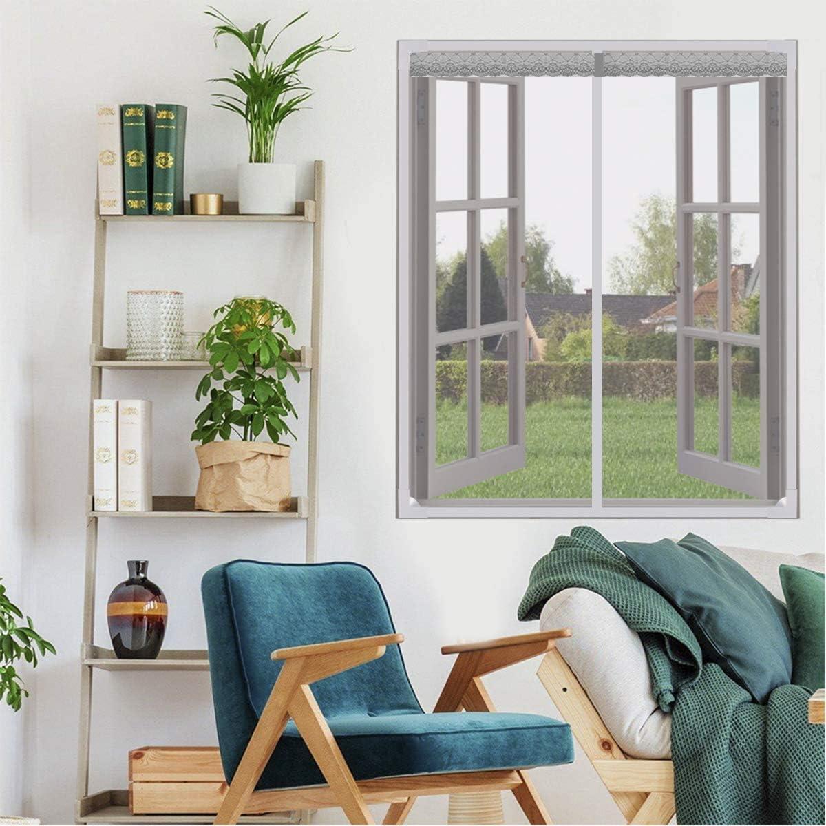 con cinta autoadhesiva de marco completo mosquitos Mosquitera magn/ética para ventana para detener insectos