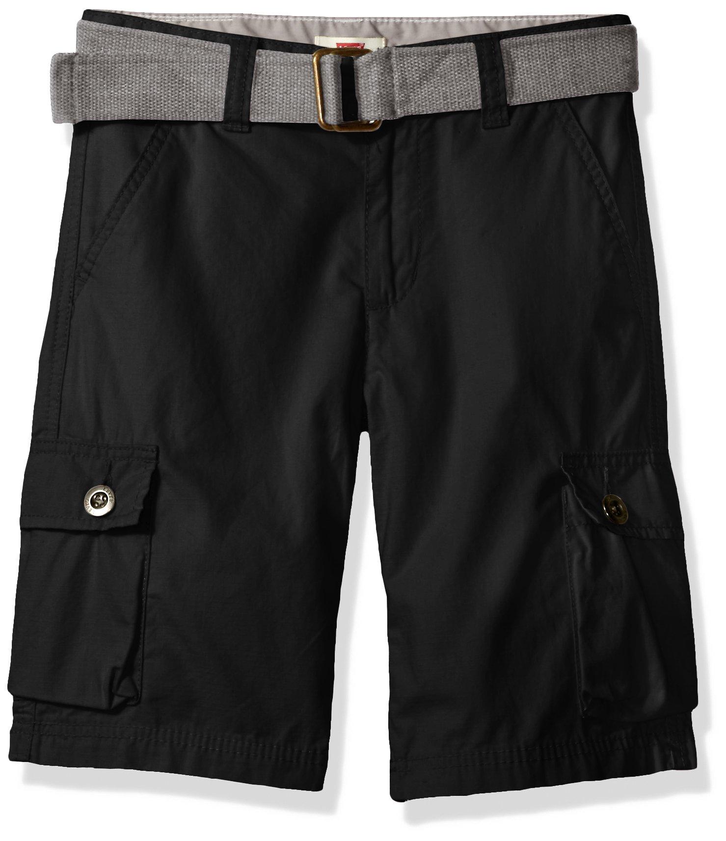Levi's Big Boys' Cargo Shorts, Black, 14 by Levi's