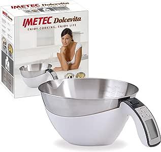 IMETEC Dolcevita ES4 - Balanza de cocina, máximo 5 kg, color blanco y gris: Amazon.es: Hogar