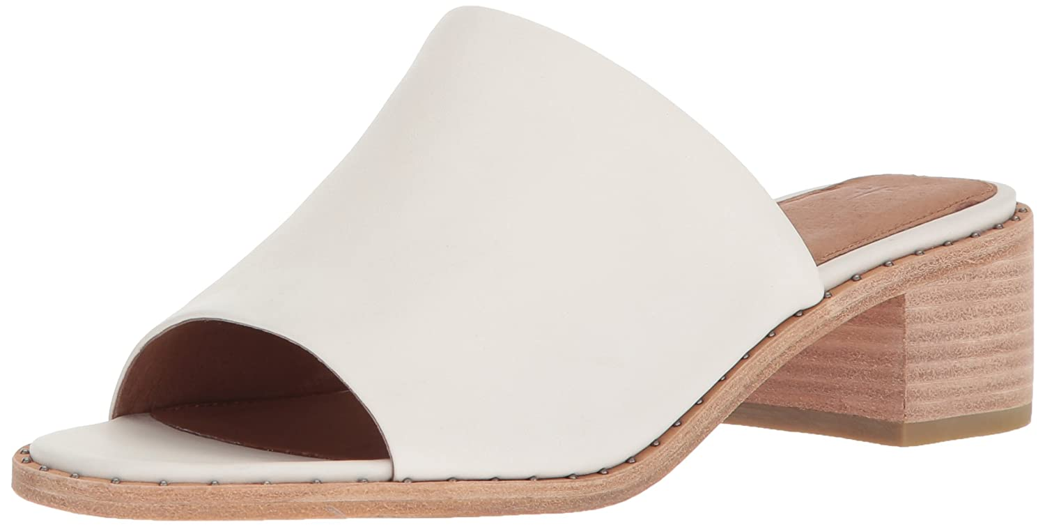 White Frye Women's Cindy Mule Heeled Sandal