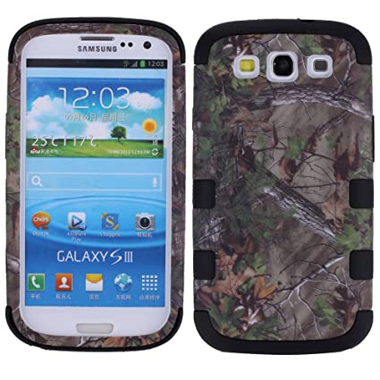 new concept 5a65b f0166 For Galaxy S3 Case,for Samsung S3 Impact Cover, Kecko(TM) Shockproof  Defender Dual Layer Natural Realtree Camo Grass Pink Tree Mossy Military  Grade ...
