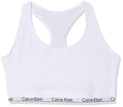 Calvin Klein Unlined Sujetador Estilo Bralette para Mujer ...