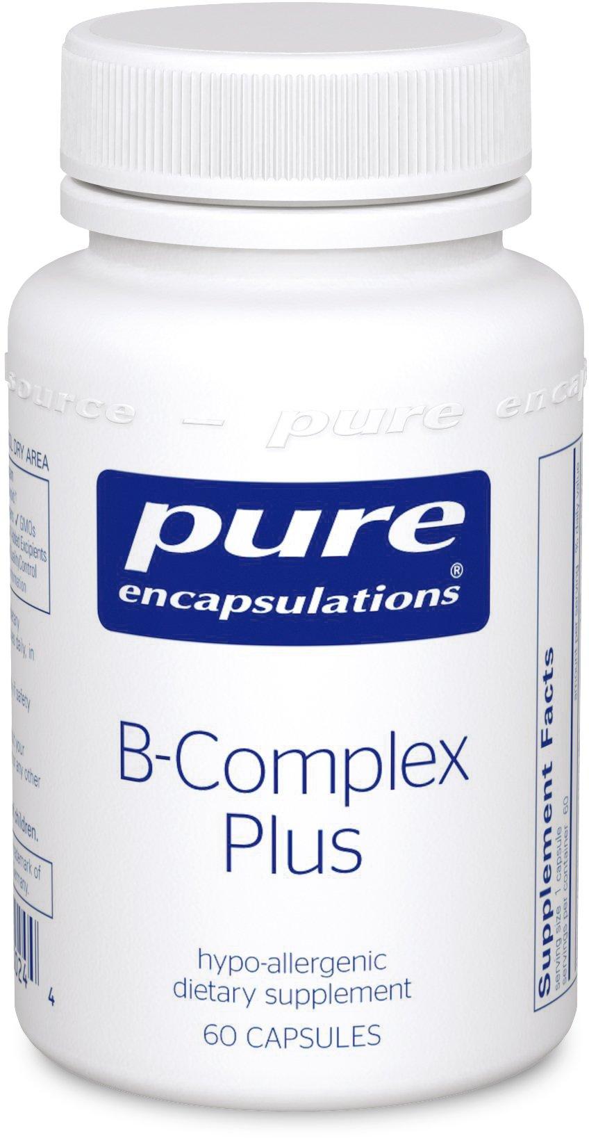 Pure Encapsulations - B-Complex Plus - Balanced B Vitamin Formula with Metafolin® L-5-MTHF and Vitamin B12-60 Capsules