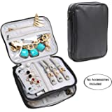 Teamoy Double Layer Jewelry Organizer Case, Travel Carry Bag for Earrings, Rings, Necklaces, Chains, Compact and All in One Place, Easy to Carry