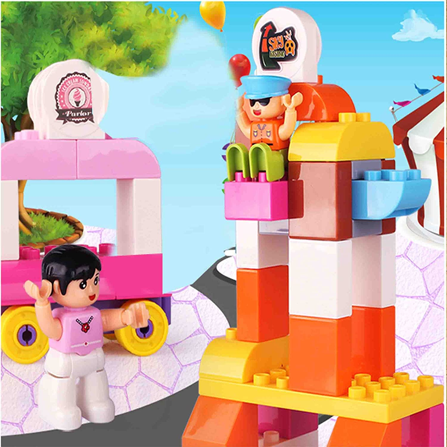 ~ 41 Colorful Pieces Fun and Creative Ele Toys Joey Gets Lost ~ Interlocking Building Bricks Story Blocks ~ Compatible with Major Brands ~ Educational