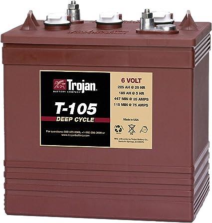 Trojan 6 Volt Battery (for Golf Carts & More)