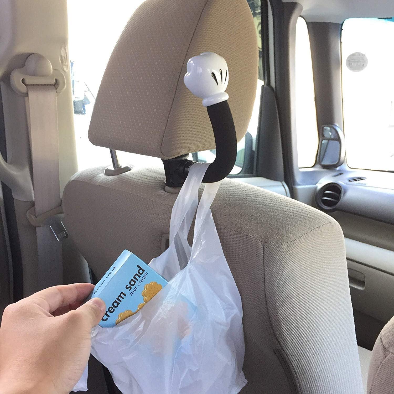 2pcs Seat Retour Crochets Four De Nettoyage Plastique  Universal Car