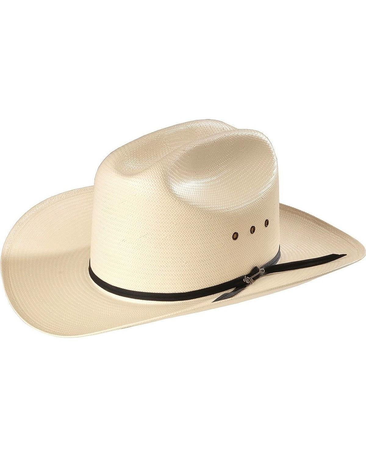 Stetson Men's Rancher Straw Cowboy Hat Natural 7 1/4