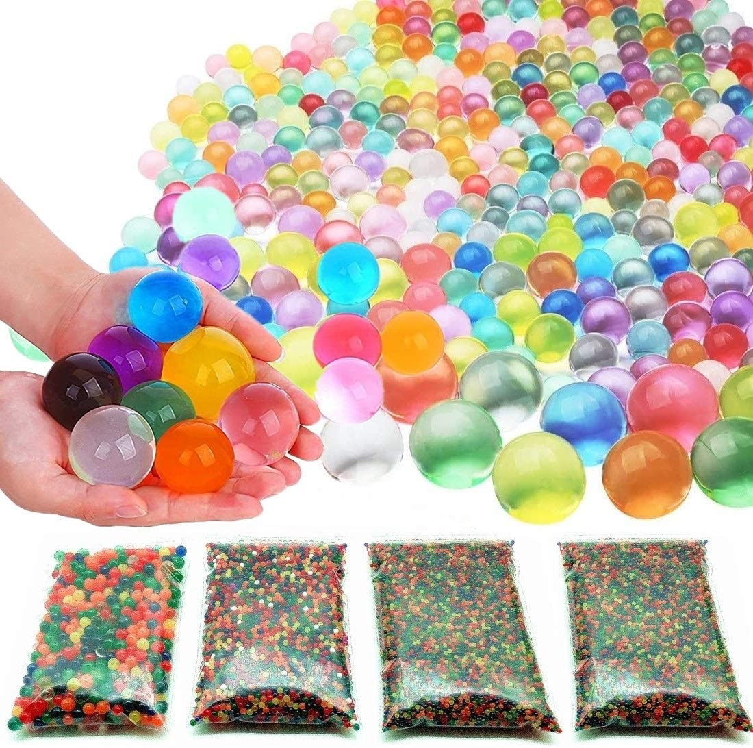 Value Arts and Crafts Supplies Kits 20000 Small /& 400 Jumbo Water Beads Sensory Toys for Kids Non Toxic Water Gel Beads Rainbow Mix Pack