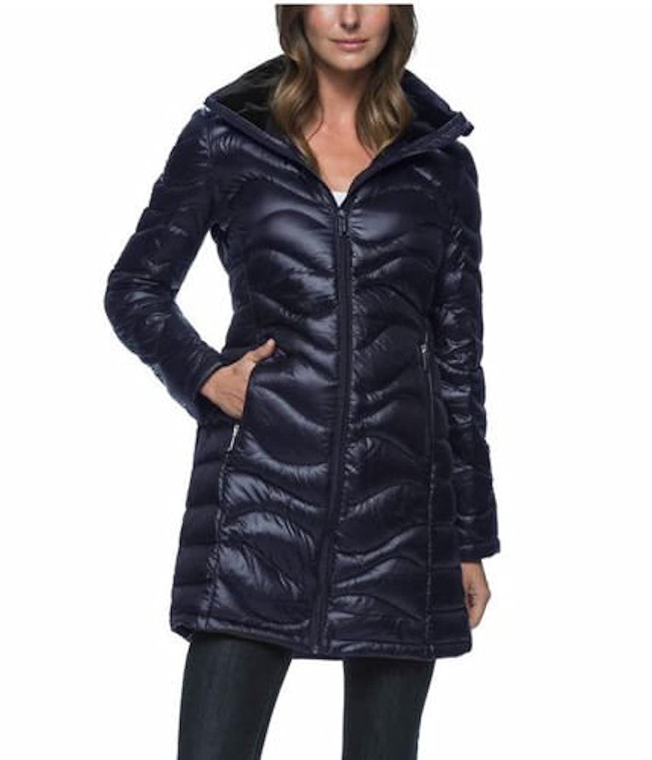 132a8399856 Amazon.com: Andrew Marc Women's Long Length Down Puffer Jacket with Hood:  Clothing
