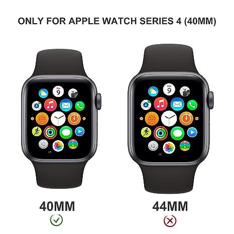 Lanhiem Apple Watch Impermeable Funda 40mm Series 4/5, [Protector ...