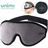 Sleep Mask for Women & Men, Unimi Upgraded 3D Contoured Eye Mask for Sleeping, Ultra Soft Breathable Sleeping Eye Mask, 100% Blackout Eye Shades Blindfold for Complete Darkness-Navy