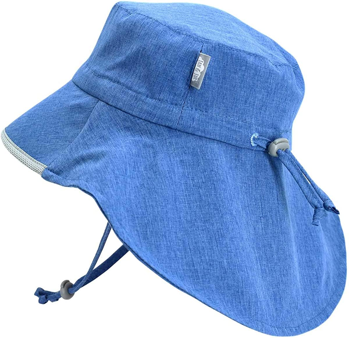 UPF Wide Brim Water-Repellent Sunhat Jan /& Jul Kids Gro-with-Me Aqua-Dry Adventure Hat 50