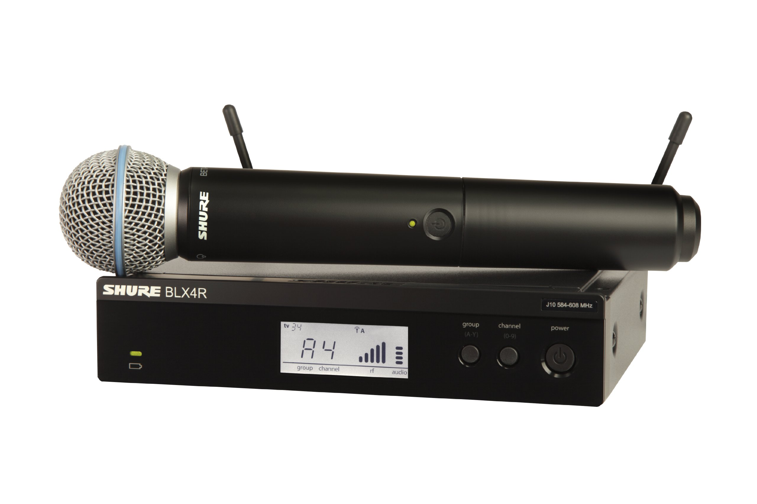 Shure BLX24R/B58 Handheld Wireless System with BETA58A Vocal Microphone, Rack Mount, J10 by Shure