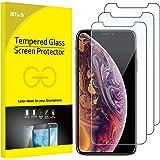 JETech Protector de Pantalla para Apple iPhone XS y iPhone X, Vidrio Templado, 3 Unidades