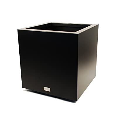 Veradek Metallic Series Galvanized Steel Medium Cube Planter, 22-Inch Height by 21-Inch Width by 21-Inch Length, Black (CUVMEDB) : Garden & Outdoor