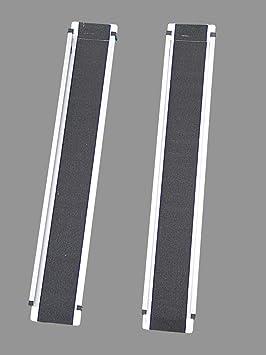 ProPlus - Rampa de aluminio para silla de ruedas (2 unidades, soporta hasta 200 kg, 107-183 cm): Amazon.es: Coche y moto