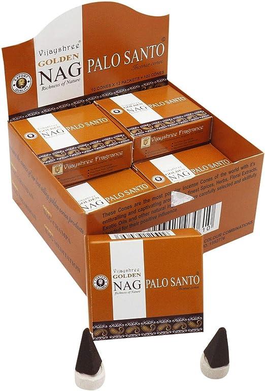 Golden Nag Vijayshree Palo Santo - Conos de Incienso - 1 Caja=10 Conos: Amazon.es: Hogar