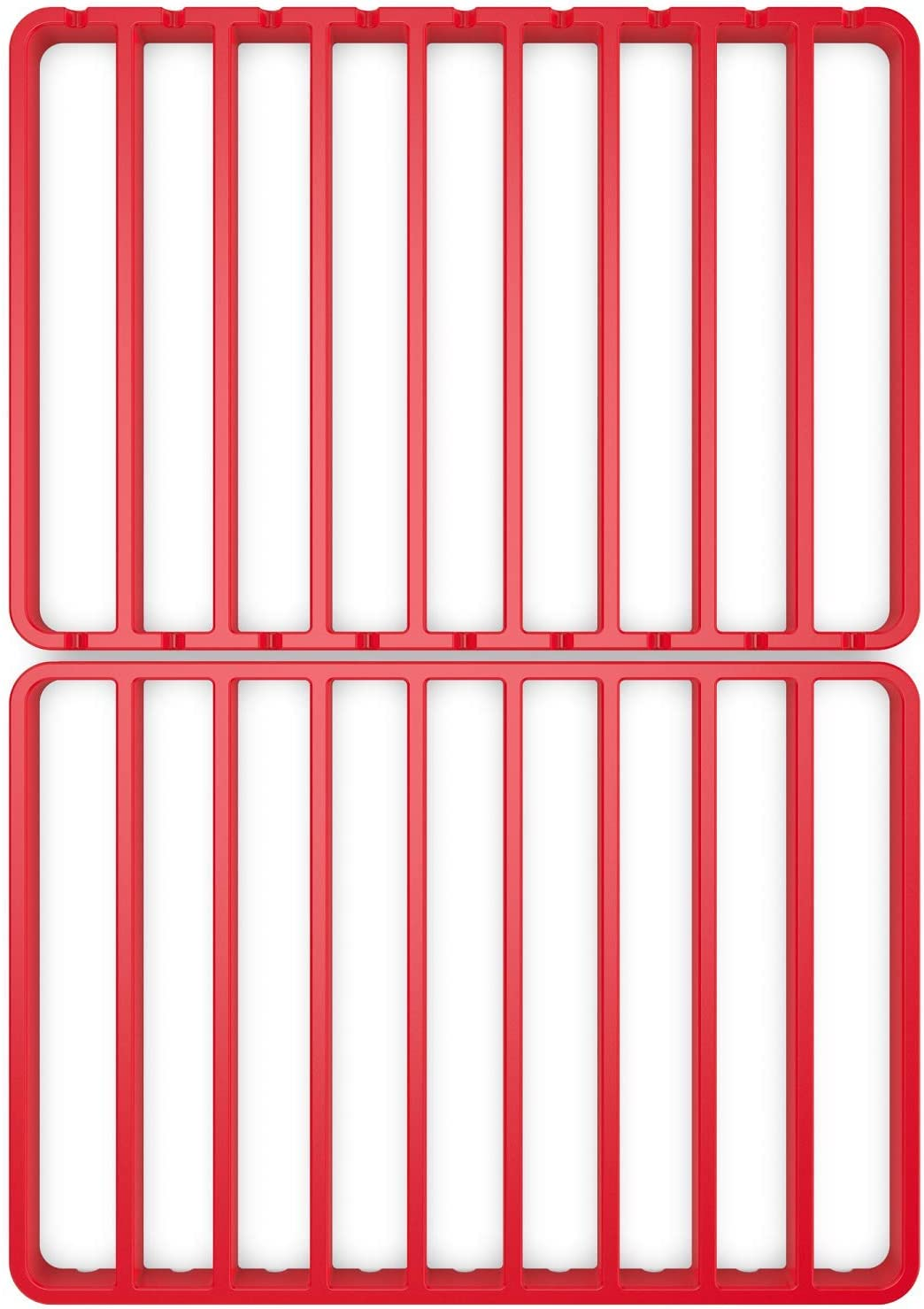 8.5 x 12 - Set of 2 STAN BOUTIQUE Roasting Racks for Oven Use with Pan Nonstick Cooking//Baking//Cooling Rack Fits Half Sheet Pan - Red Silicone