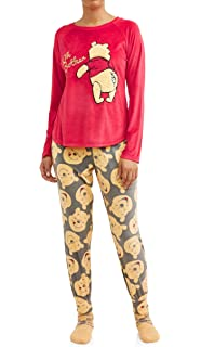 fbaf85b6f68 Disney Women s Winnie The Pooh Oh Bother Plush Fleece 3-Piece Sleepwear Pajama  Set
