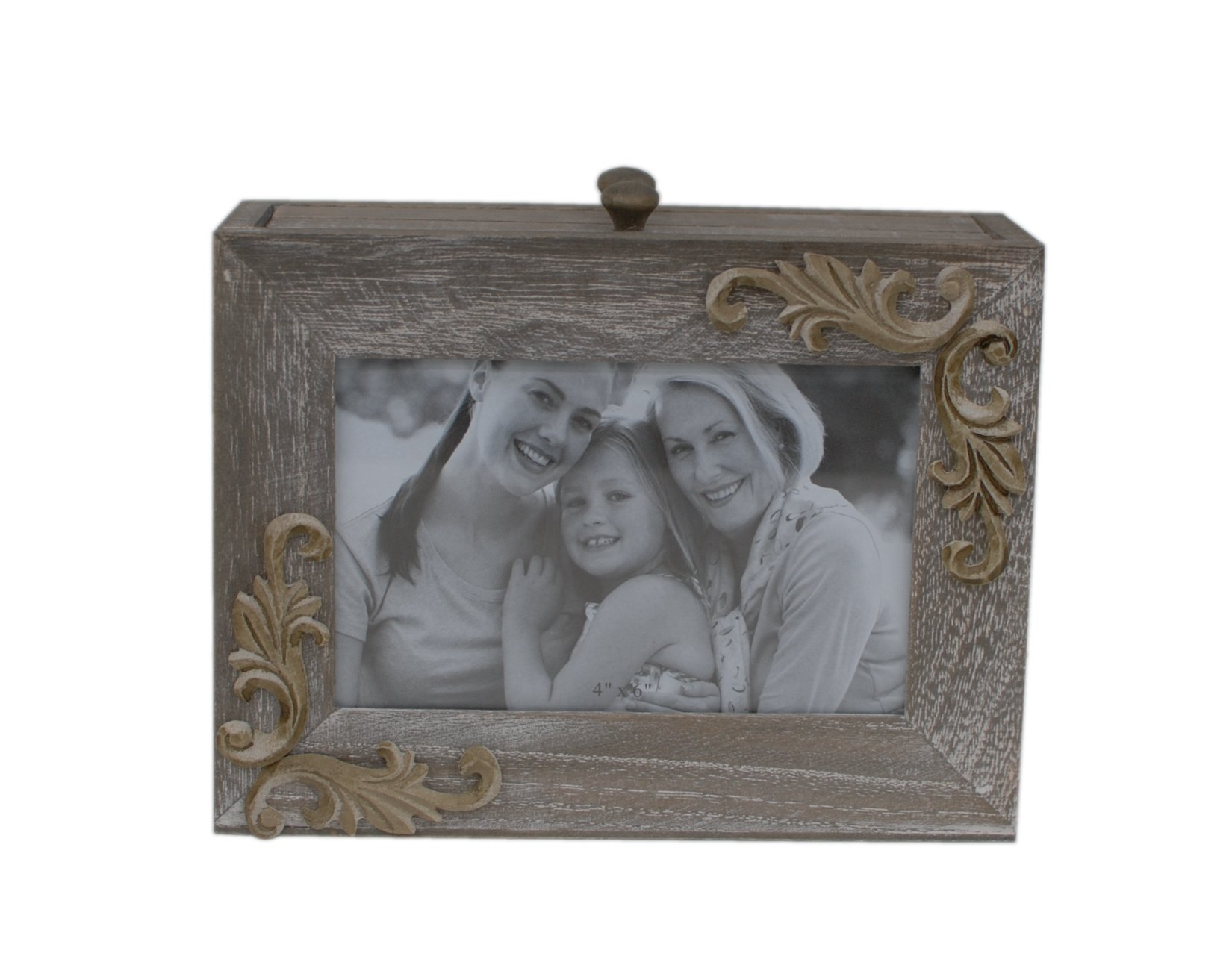 Attraction Design Wood Carved Antique Photo Album Box
