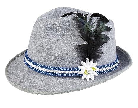 Boland Cappello Tirolese Oktoberfest Grigio con Piuma Adulti 8264514b9d3b