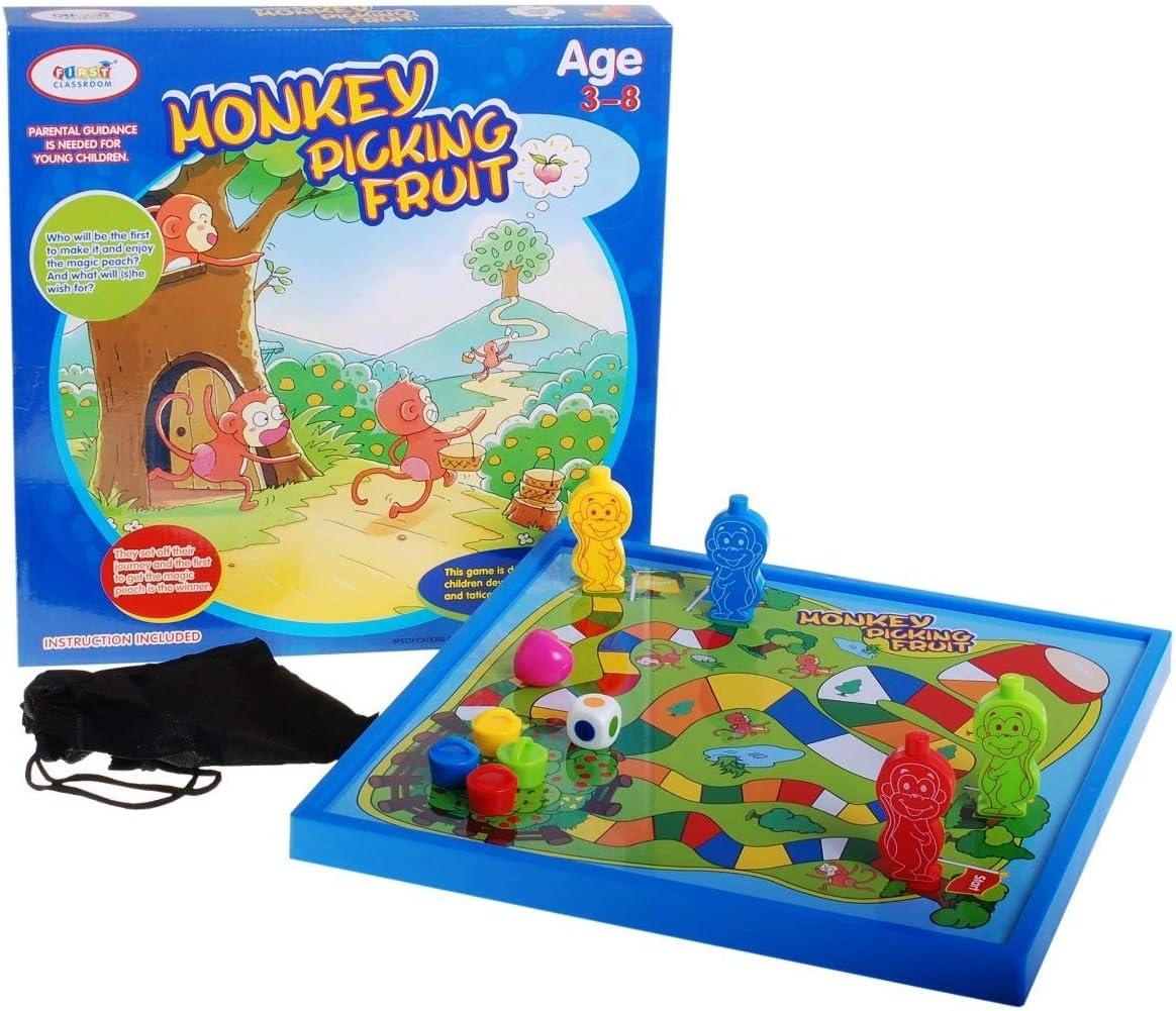 BSD Juego de Mesa Juego de Tablero - Mono Recogiendo Frutas: Amazon.es: Juguetes y juegos