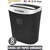 Goldstandard USA Cross Cut Paper Shredder for A4 Size Sheet and CD, DVD, Credit Cards
