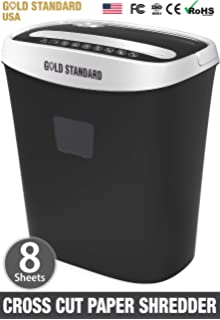 SToK 8 Sheet Cross Cut Paper Shredder 21 Liter Large Waste