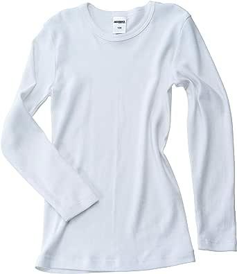 HERMKO 2830 Camiseta Interior de Manga Larga para niño y niña Fabricada 100% algodón orgánico