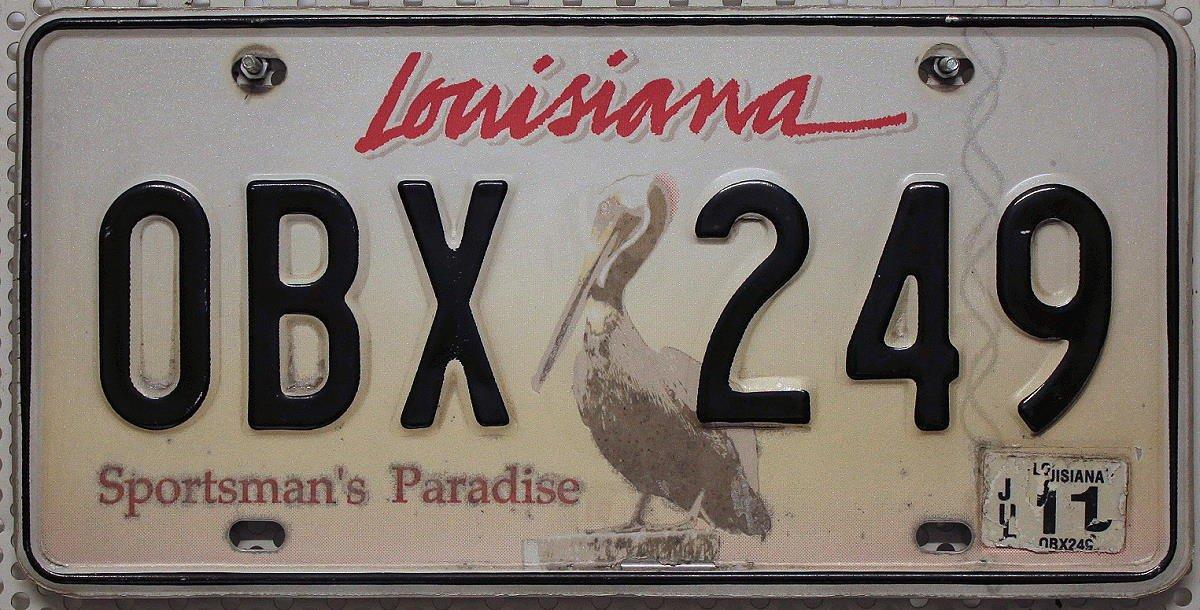 Nummernschild Louisiana ~ PELIKAN Motiv Schild USA