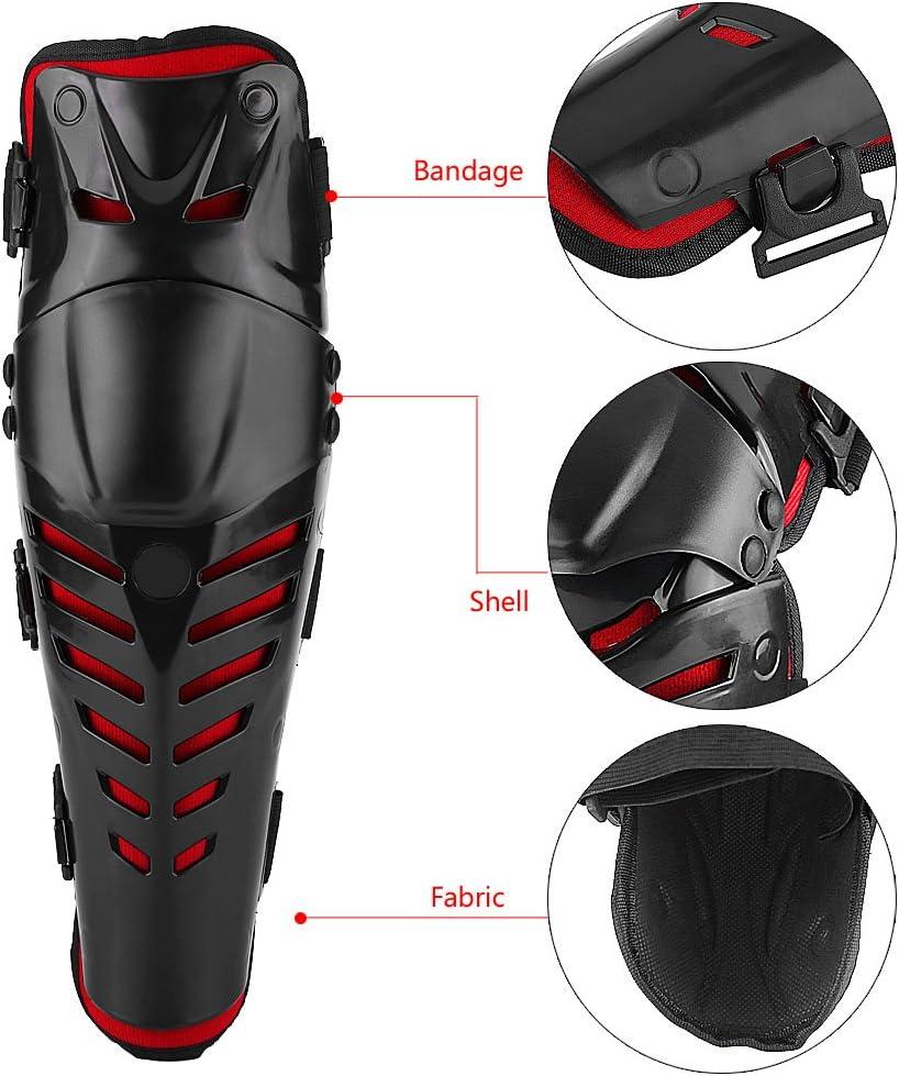 41 x 12cm 16x 4.7 Genou Protection Noir+Rouge PE+EVA Mousse Adulte Homme ou Femme Universel Hlyjoon 1 Paire Genouill/ères Moto Cross Cycling Racing Dirt Bike
