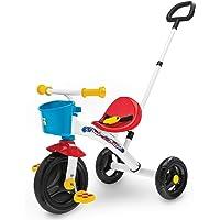 Chicco Triciclo U-GO 2en1, Triciclo para Niños con Mango de Altura Ajustable, Cinturón y Compartimento de Almacenaje…