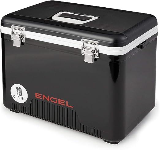 Black Engel 19 Quart 32 Can Leak Proof Odor Resistant Insulated Cooler Drybox