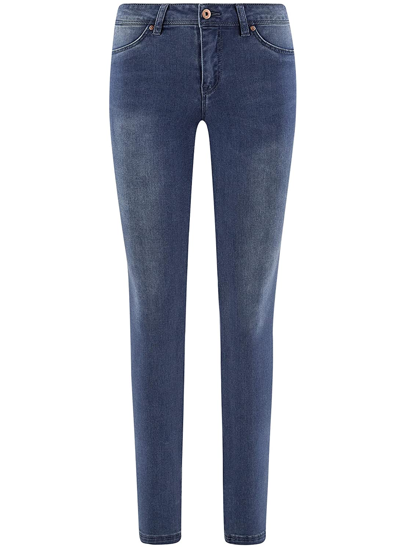 oodji Ultra Donna Jeans Skinny in Tessuto Morbido