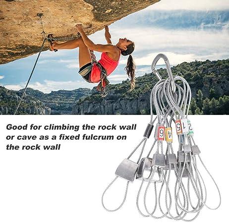 Dilwe Enchufes de Roca para Subir 10Pcs Cuerda de Alambre de ...